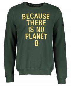 Ecoalf sweater - modern fit - groen