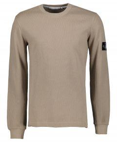 Calvin Klein T-shirt - slim fit - taupe