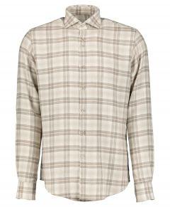 Gentiluomo overhemd - slim fit - bruin