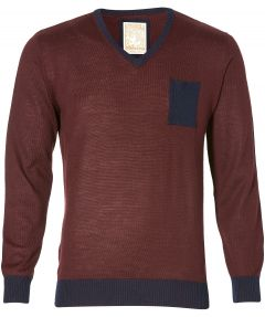 sale - Hensen pullover - slim fit - bordeaux