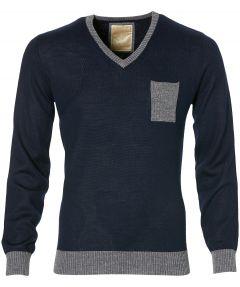 sale - Hensen pullover - slim fit - blauw