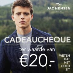 Jac Hensen cadeaubon 20 euro