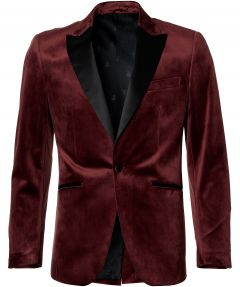 Smoking colbert - slim fit - bordeaux