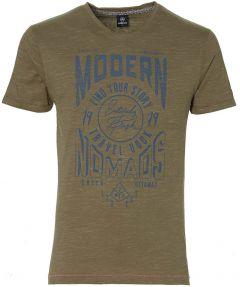 Lerros t-shirt - modern fit - bruin