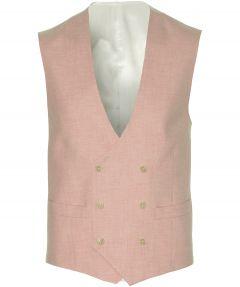 Nils gilet - slim fit - roze