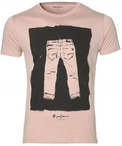 Pepe Jeans t-shirt - slim fit - roze
